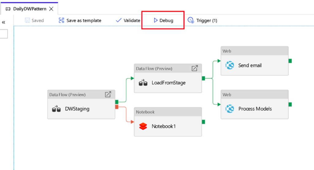 Low Code Development - Debug options for analysing the data flow